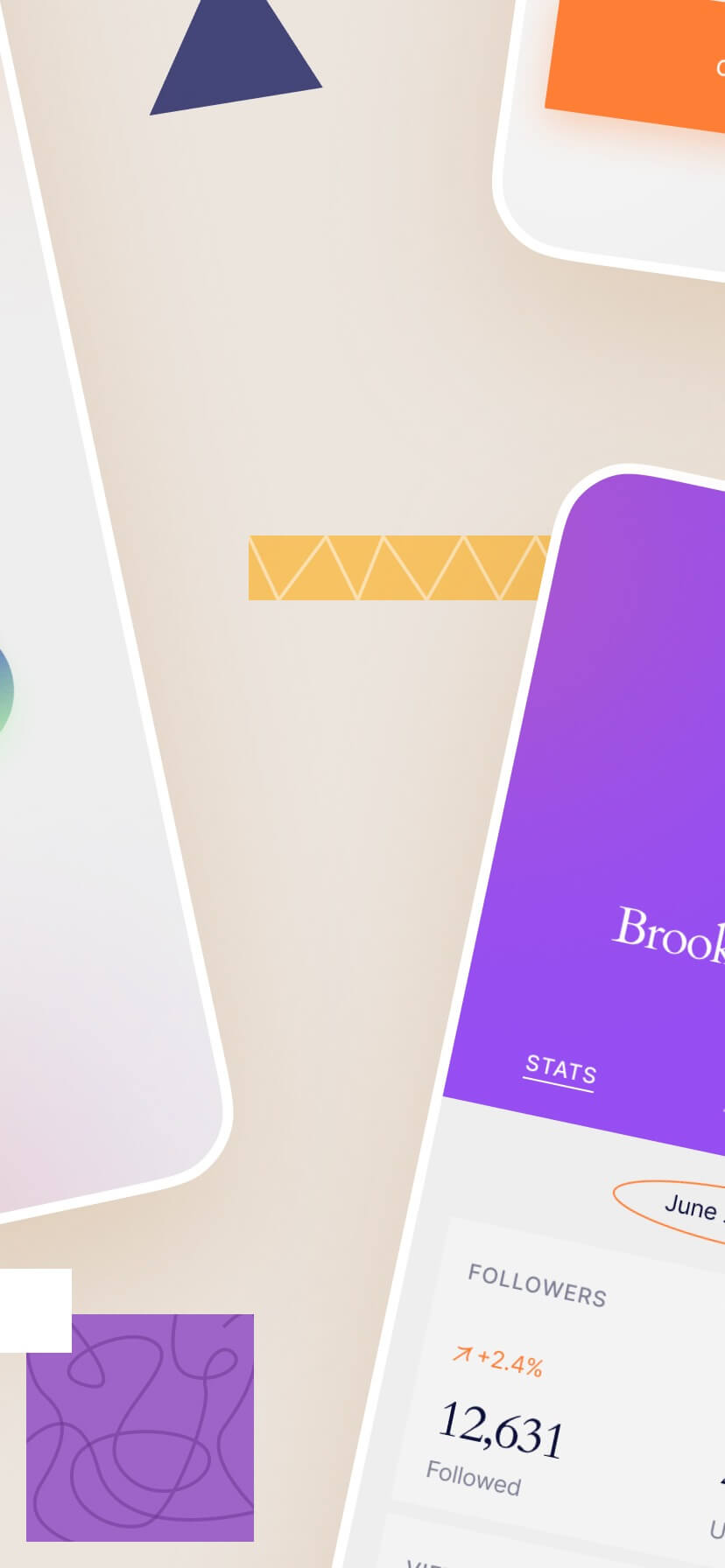 App store template with abstact shapes #3
