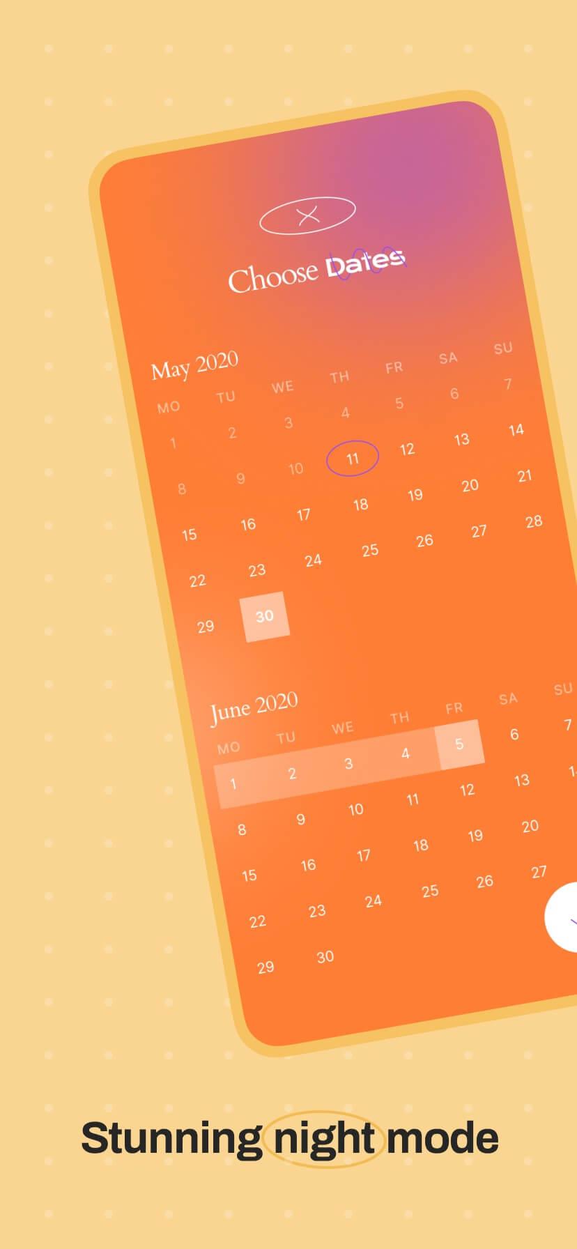 Pastel app store screenshot with simple iPhone mockup #2