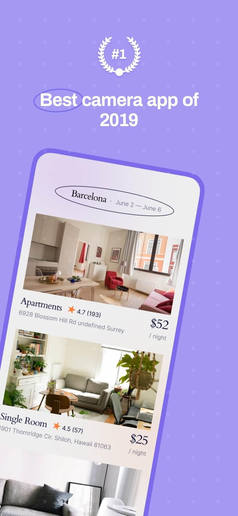 Pastel app store screenshot with simple iPhone mockup #1