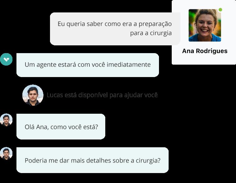 O bot Aivo responde a uma consulta de um usuário no WhatsApp ou no site.
