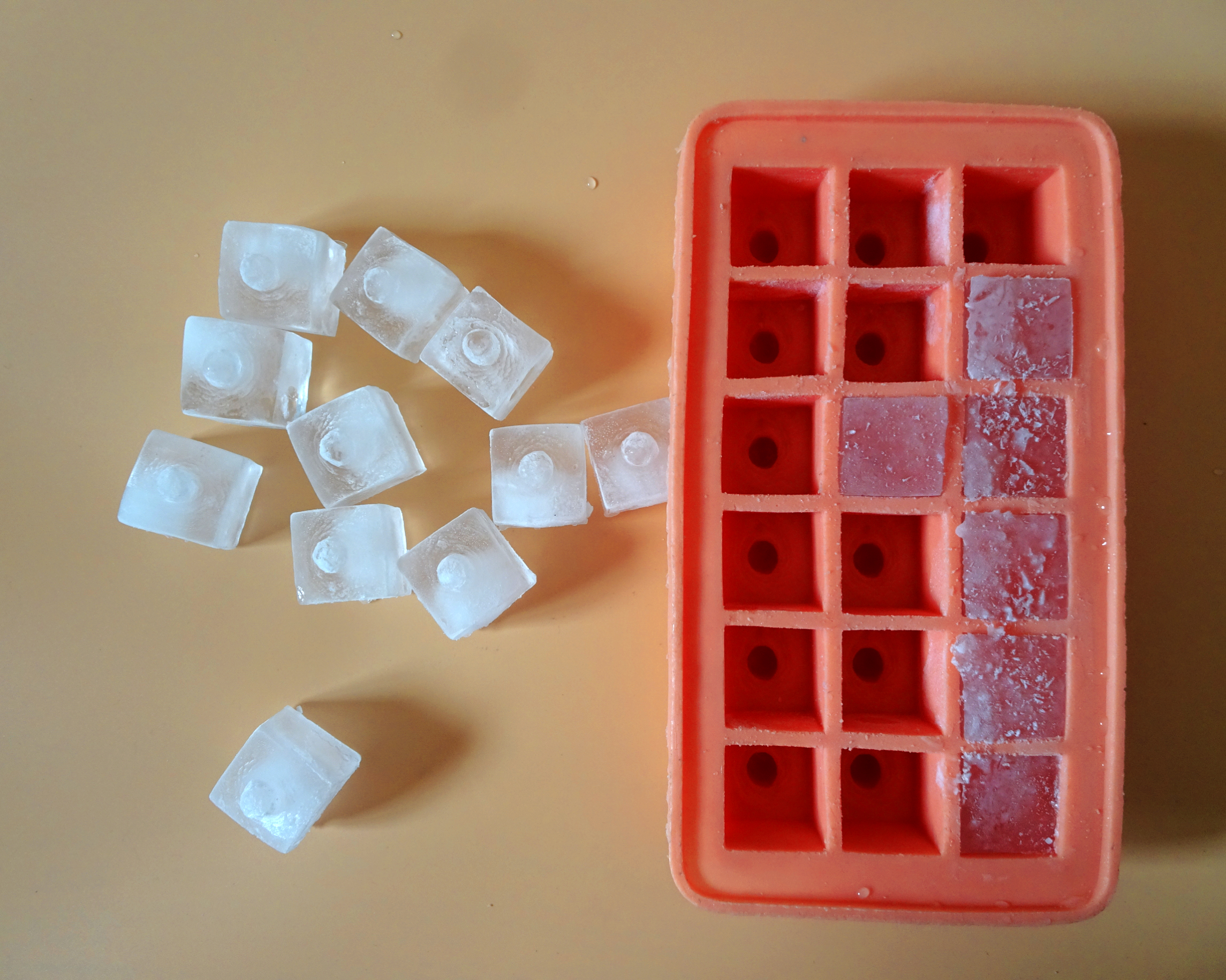 selfmade Ice cube tray design for nipple-shaped ice cubes