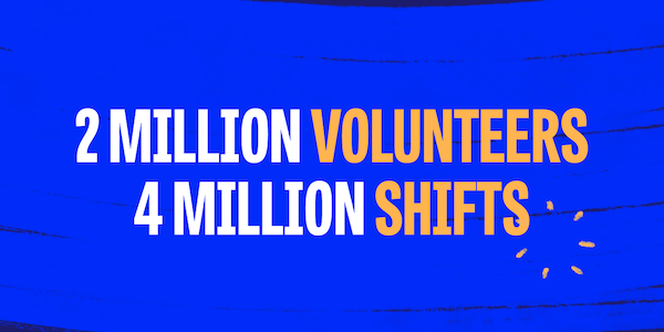 Learn how we doubled our volunteer network in just four months.