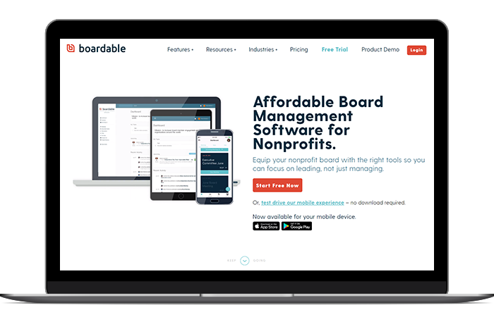 Boardable's volunteer management software includes every tool you'll need to empower your board members.