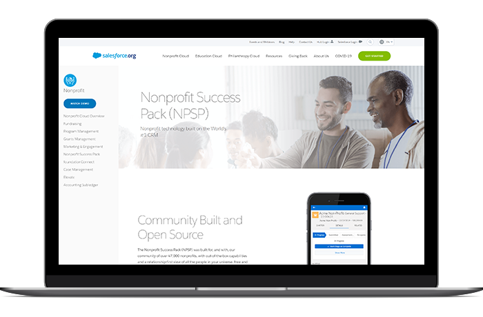 The Salesforce NPSP is a strong volunteer software foundation to build a customized management toolkit for your organization.