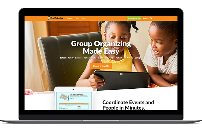 SignUpGenius's suite of event registration features are perfect for smaller organizations that need basic volunteer management software.