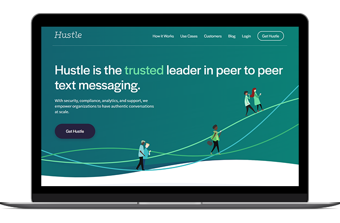 Hustle's volunteer management software and communication tools make it perfect for peer-to-peer texting campaigns.