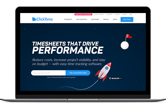 ClickTime fills a crucial volunteer management software gap by making it easy for supporters to record their volunteered time.