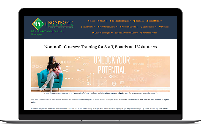 Volunteer management software and resources from Nonprofit Courses can help you engage and retain key volunteers.