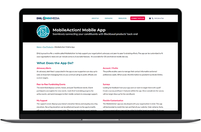 MobileAction's grassroots software offers a mobile-first advocacy experience.