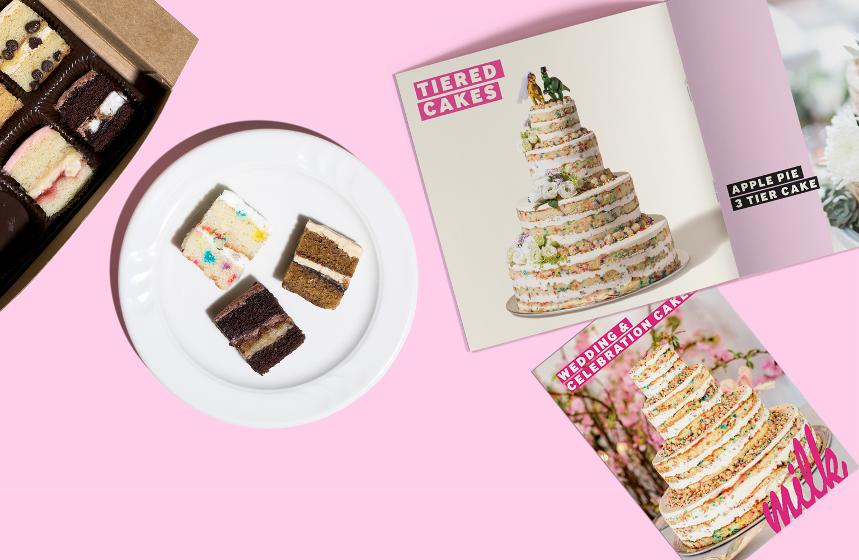 Wedding Cake Brochure Catalogue Hero Image Design
