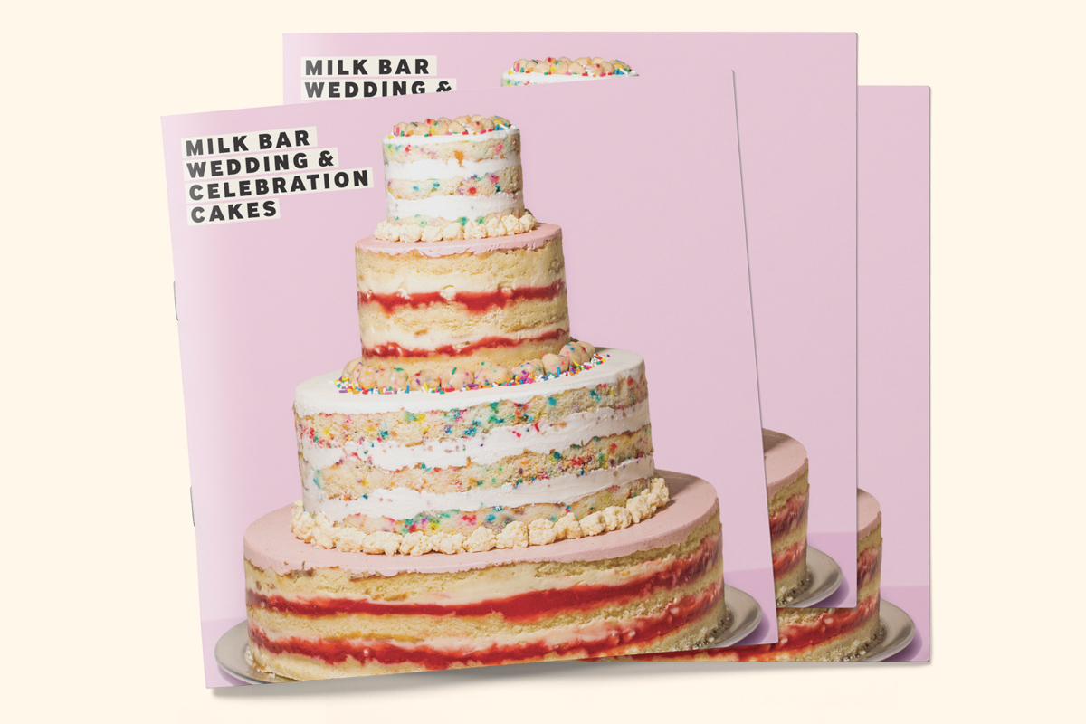 Wedding Cake Bakery Brochure Catalogue with Tiered Cake Cover
