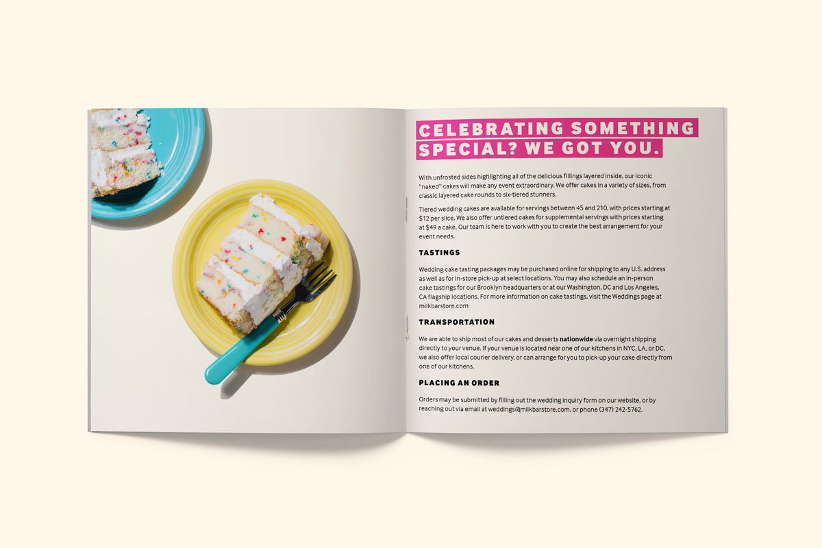 Wedding Cake Bakery Brochure Catalogue describing services