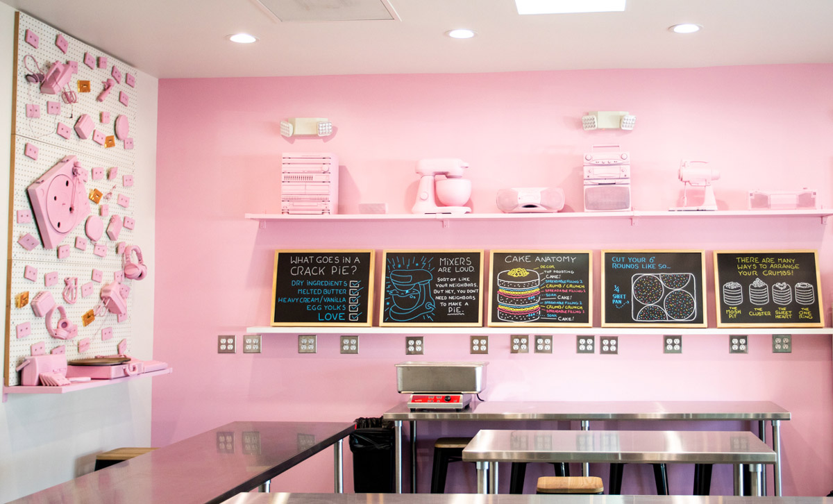 Pink Wall of Milk Bar LA Classroom