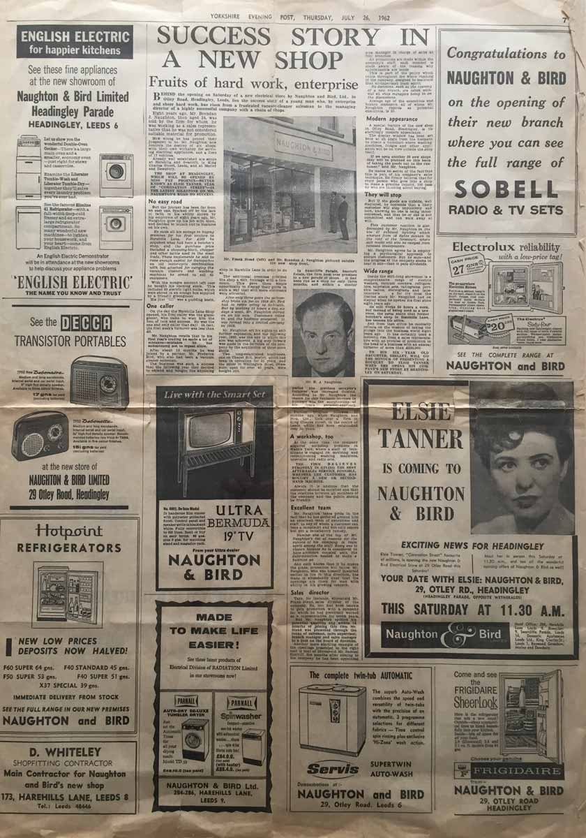 Yorkshire Evening Post 1962