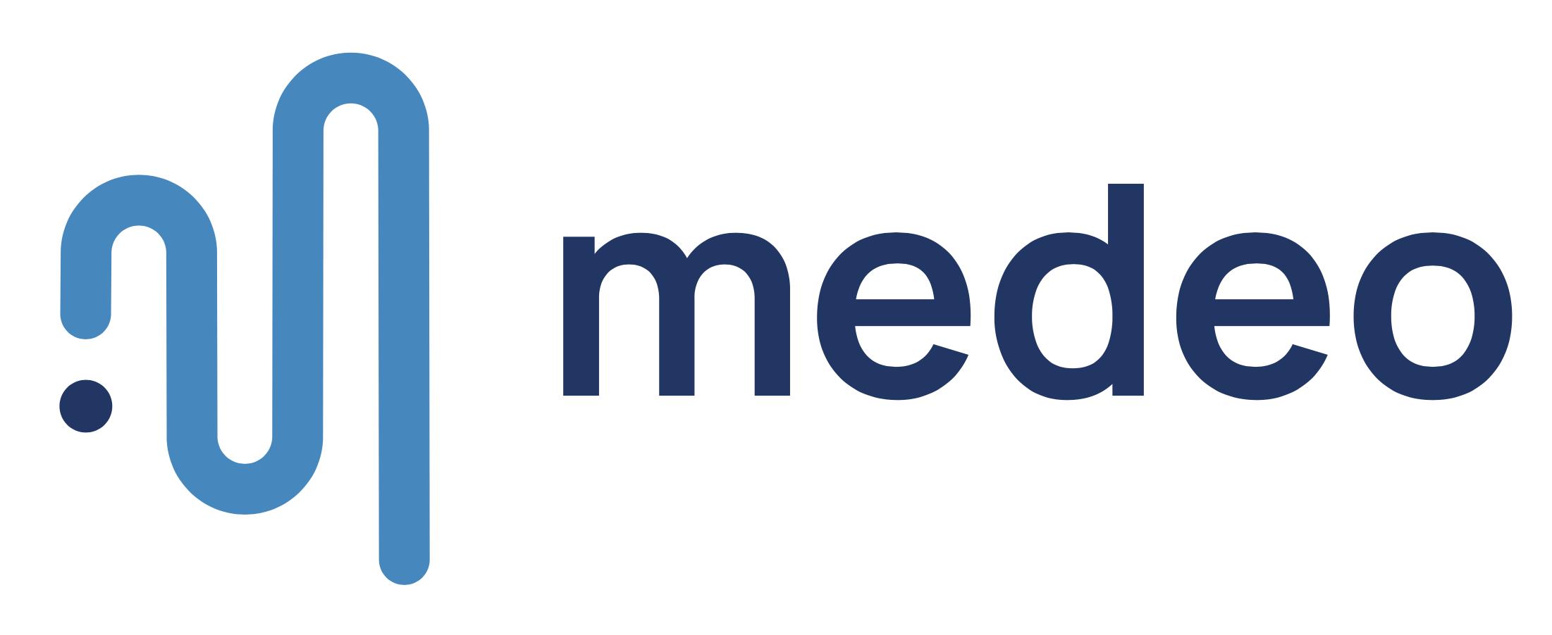 Logo Medeo sur fond blanc