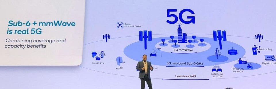 Qualcomm president Christiano Amon delivers his keynote.