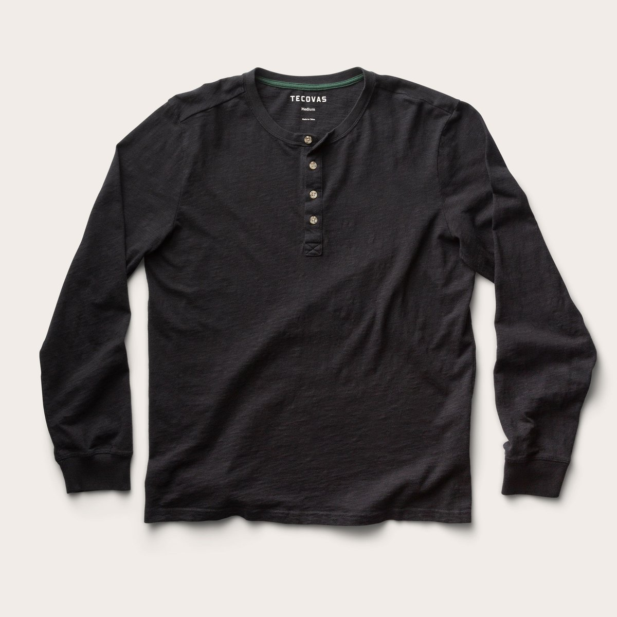 Long Sleeve Slub Henley