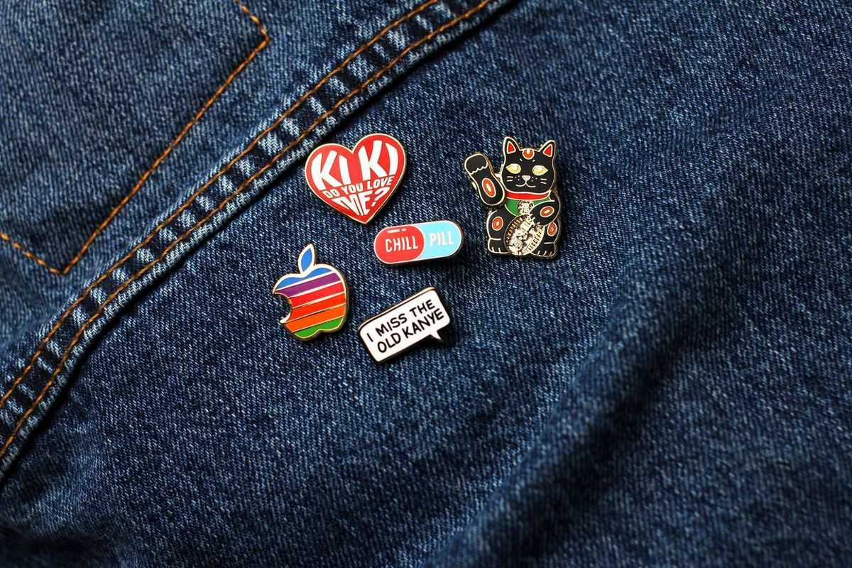 Jobs Pin Multicolored Pin