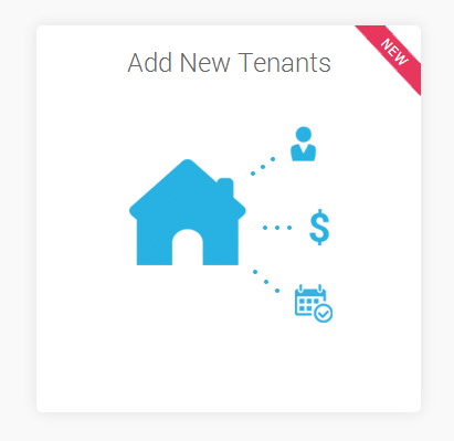 Example of Add New Tenant Widget