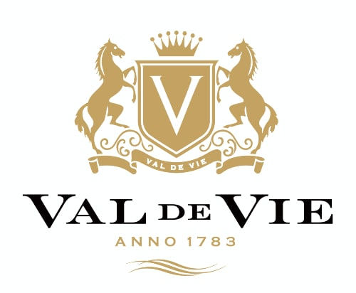 The logo of the prestigious Stellenbosch Venue, Val de Vie.