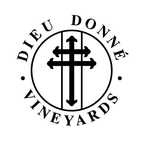 The logo of Dieu Donne Vineyards, Franchoek, on The DJ Company Website.