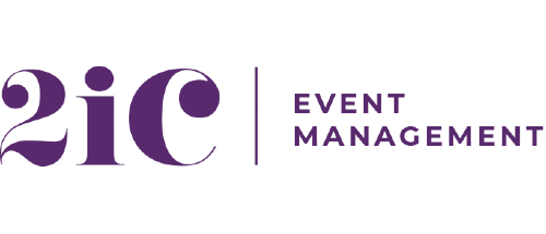 The logo of 2iC events management, a Cape Town-based events company.