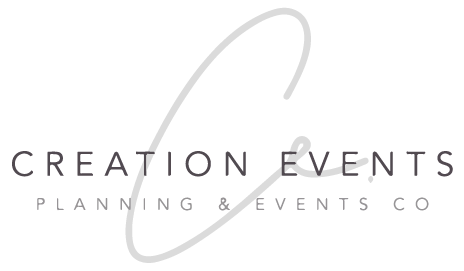 The logo for Creation Events, a local function & events planner