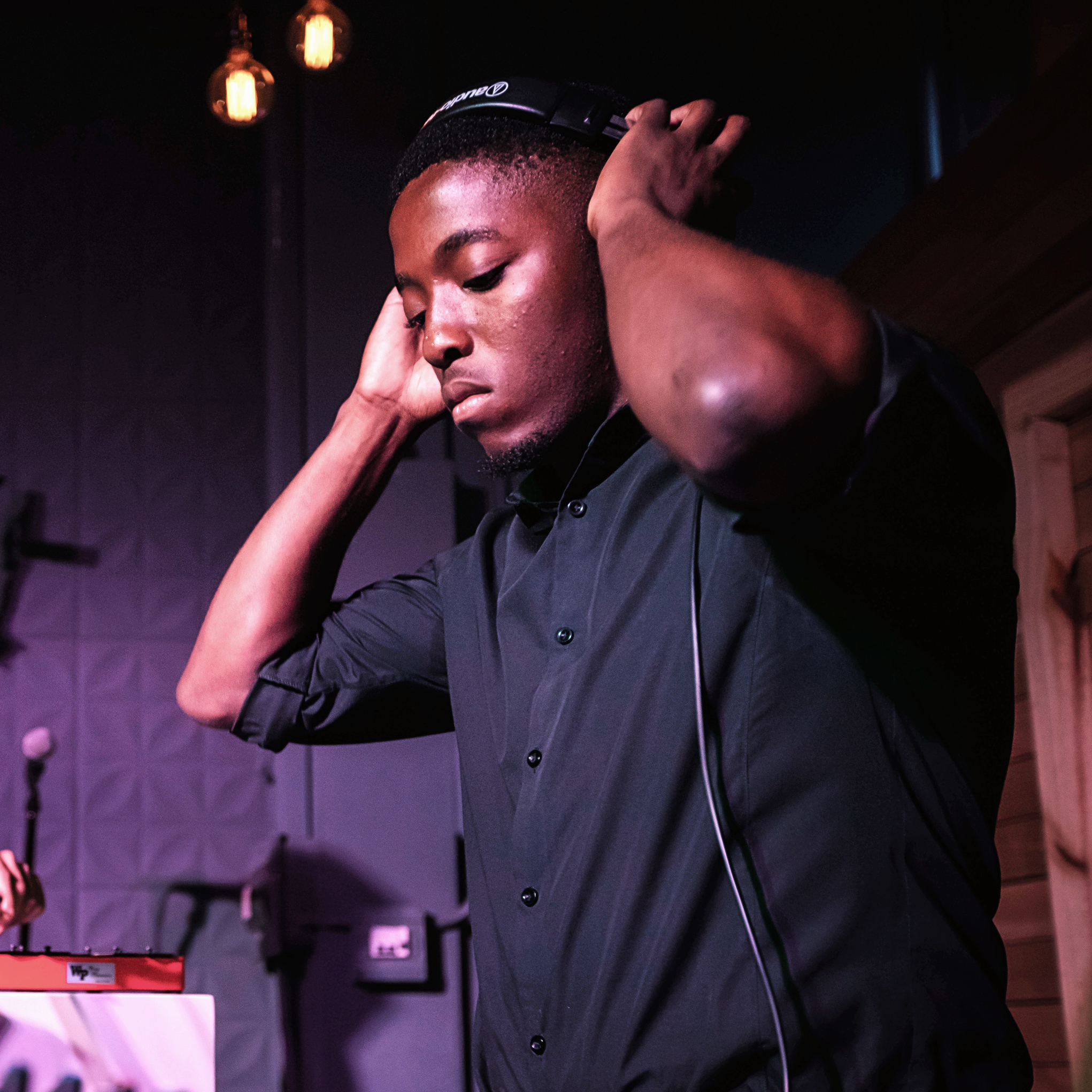 A portrait of South African DJ, Jacky Masutha.