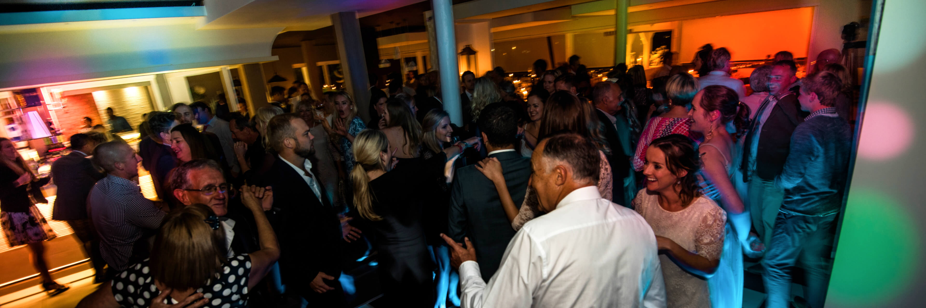 Many people dancing to the best wedding DJ in Cape Town South Africa.