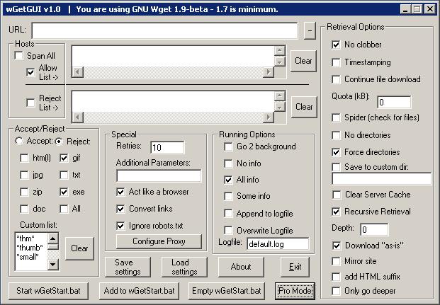 Screenshot van een gebruikersinterface uit de hel
