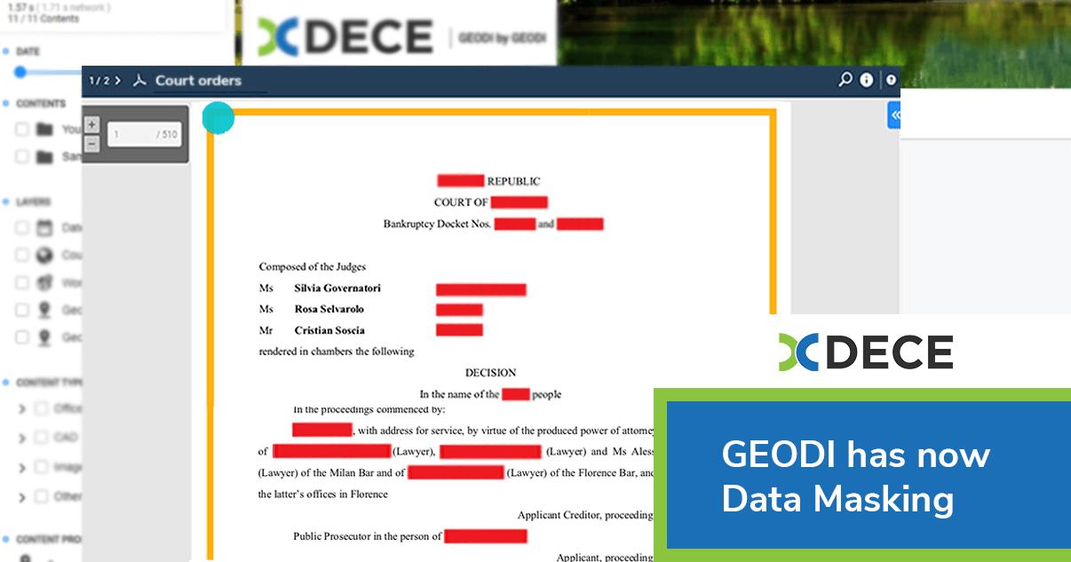 GEODI has now Data Masking