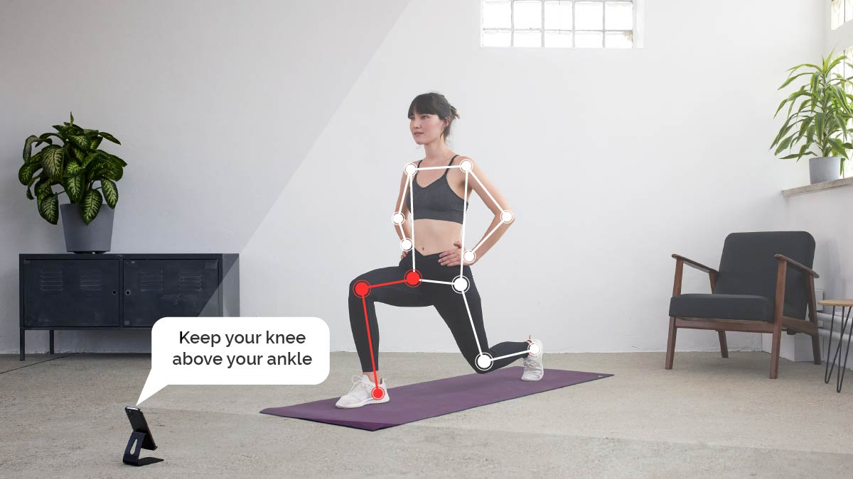 boost correcting form while workiing out