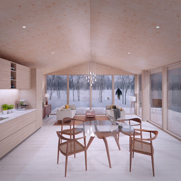 High fidelity design view of a residential home in Scotland