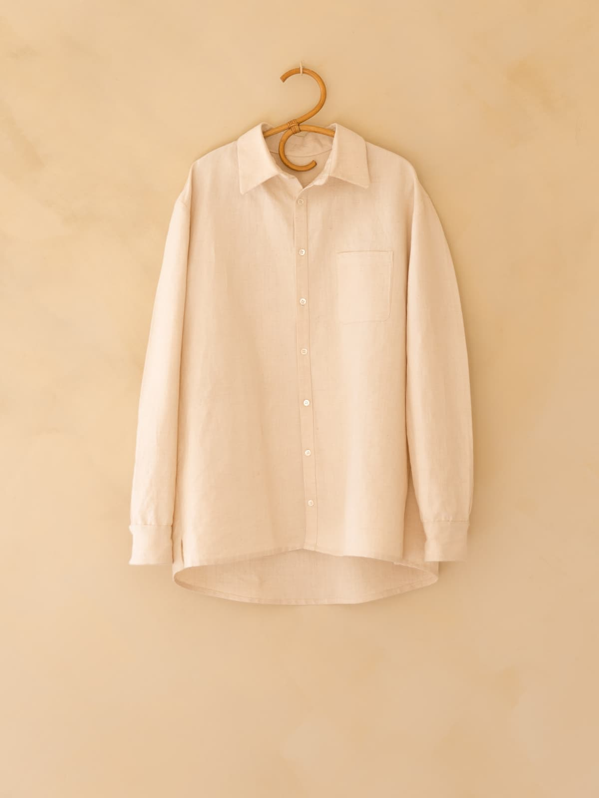 antique french linen shirt