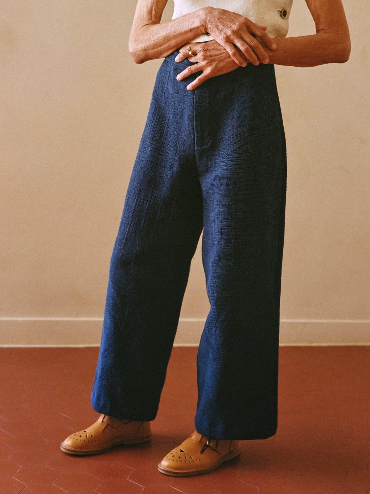 piqué de Marseille trousers