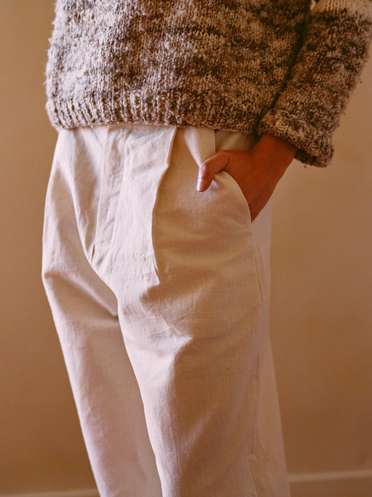antique french linen trousers