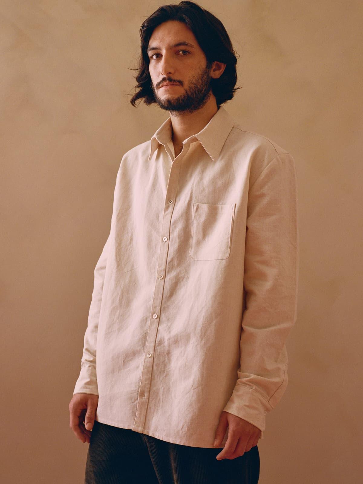 antique french linen shirt