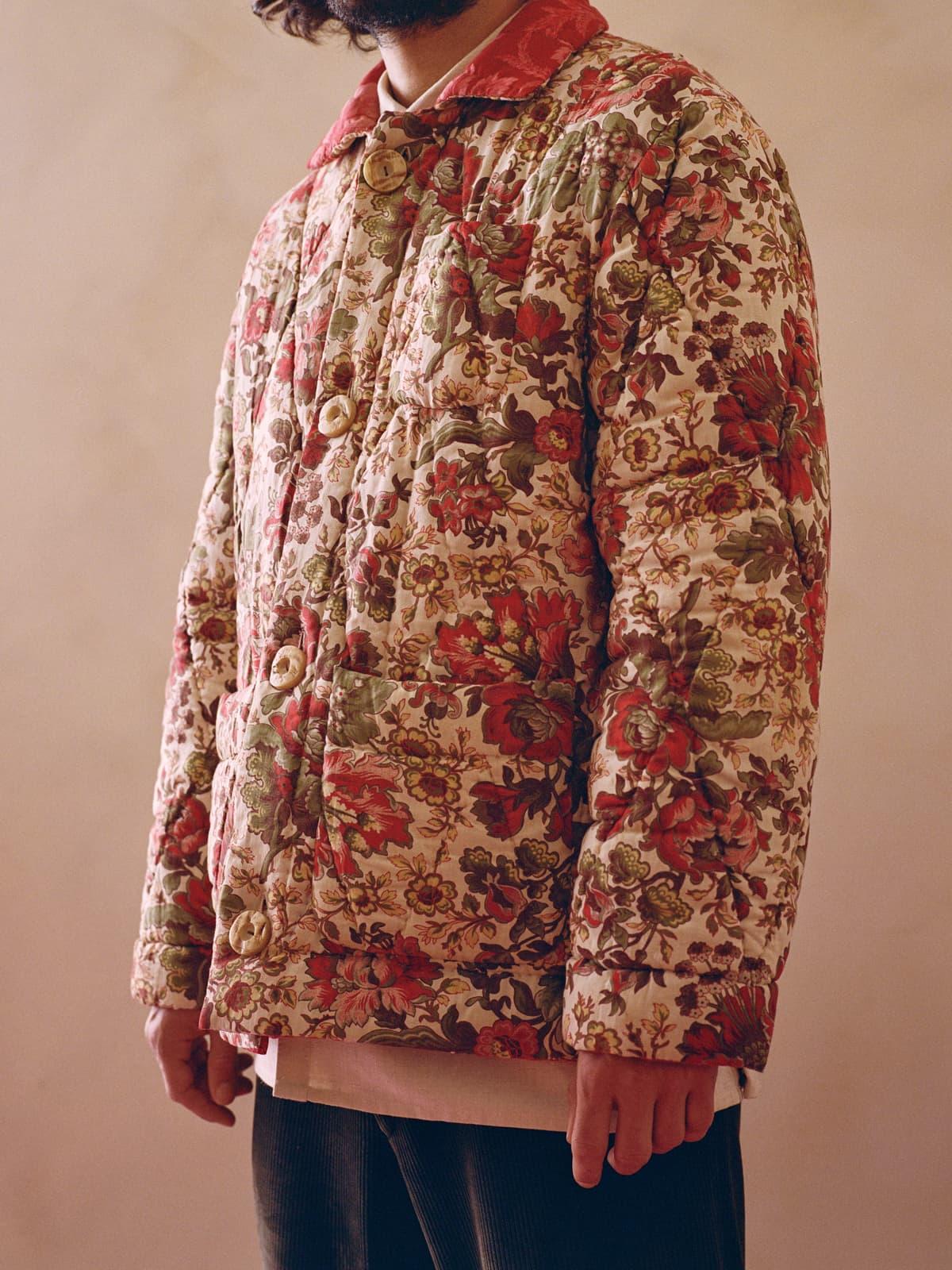 reversible floral quilt jacket