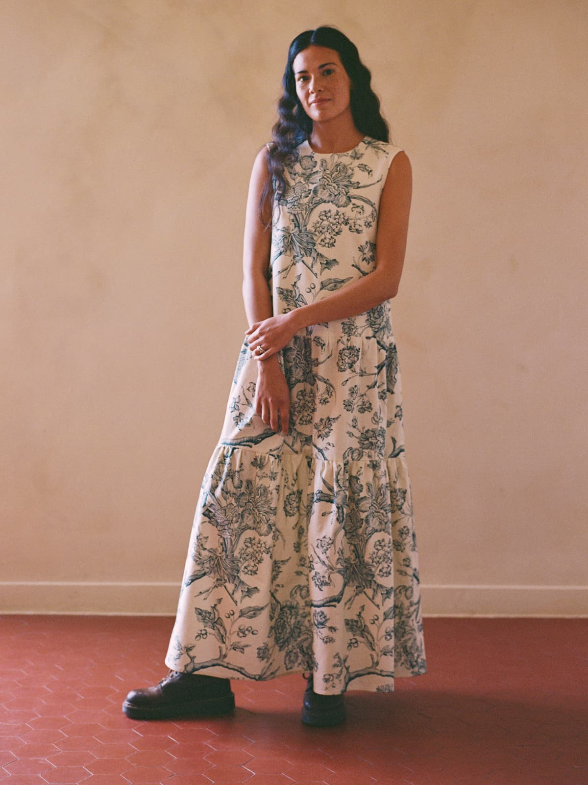 modular toile de Jouy dress