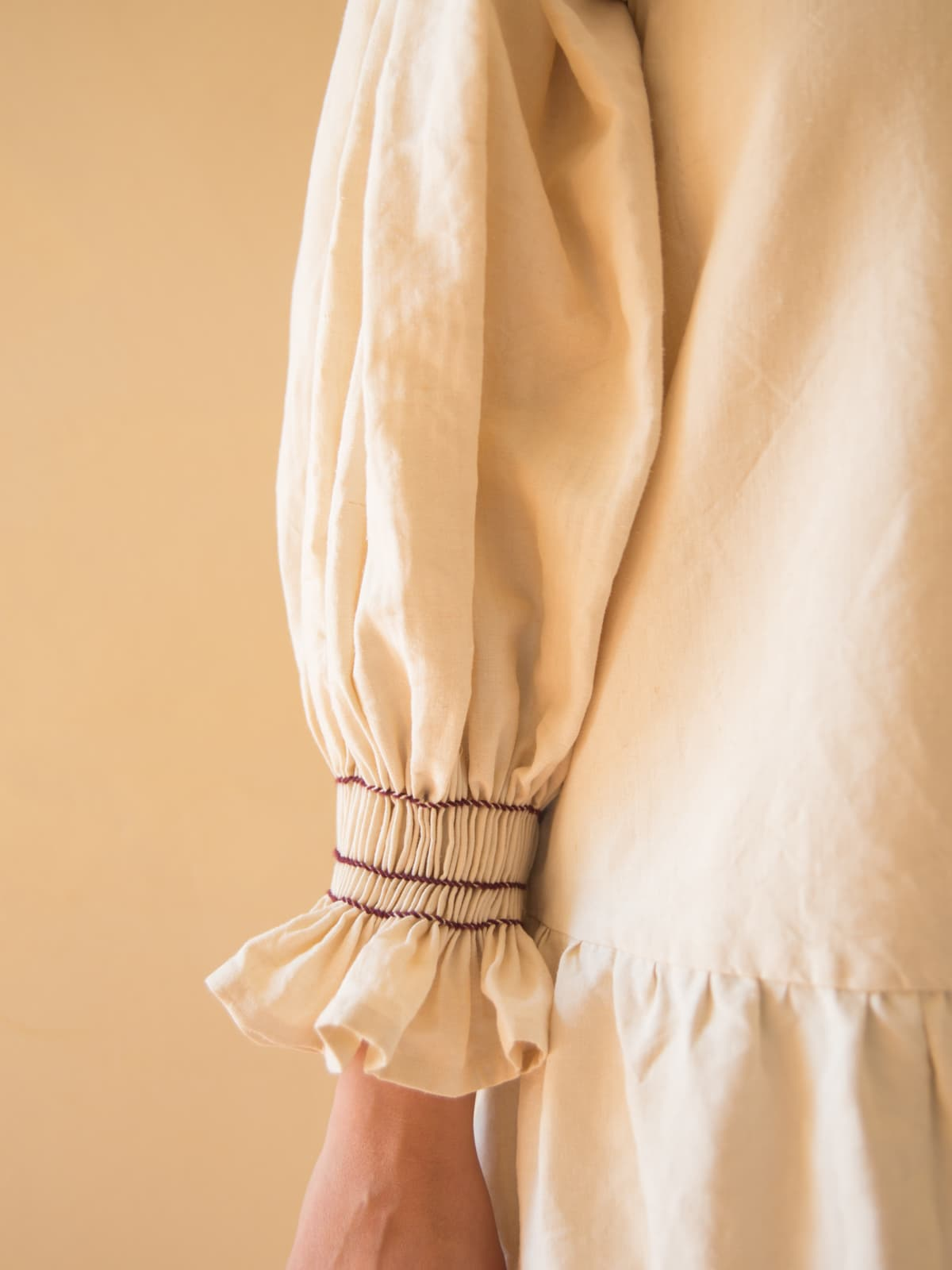modular antique linen dress
