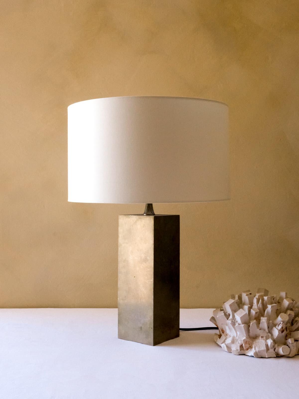 Nickel-plated metal lamp, 70's
