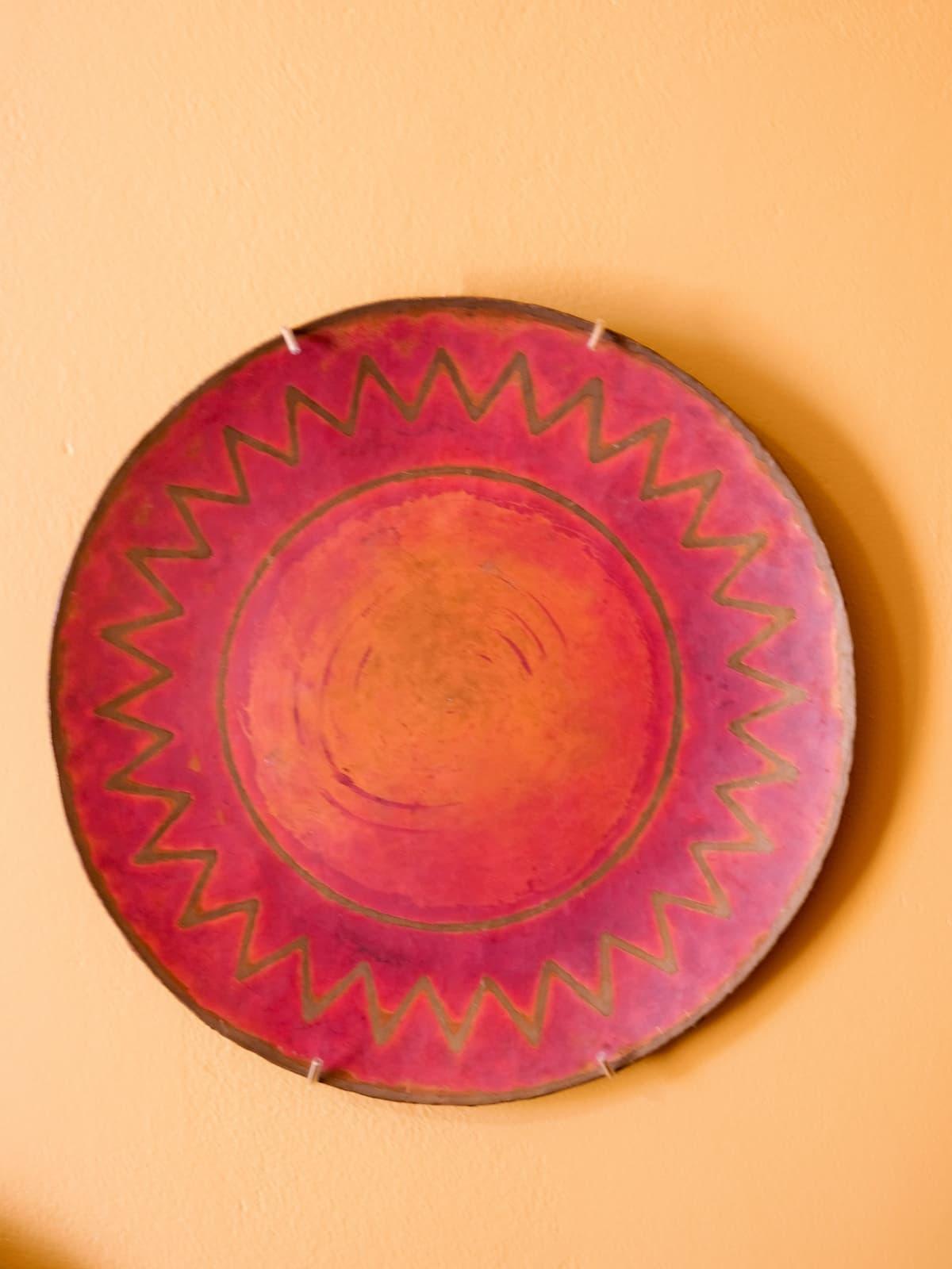 Decorative copperware plates, 30's