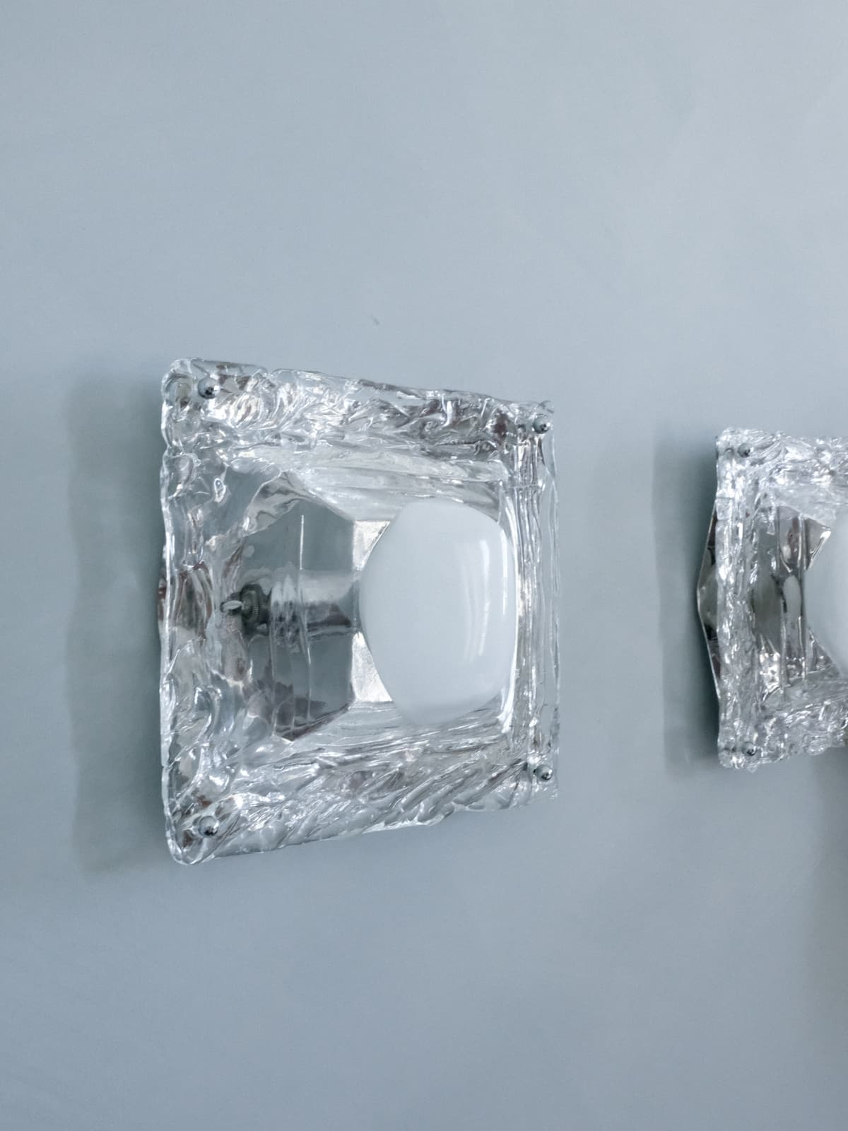 Pair of Murano glass sconces, 70's