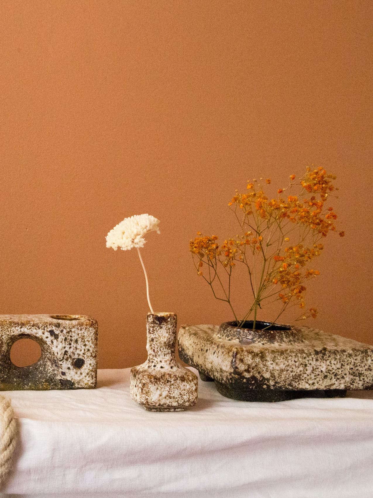 Set of five ceramics, 70's