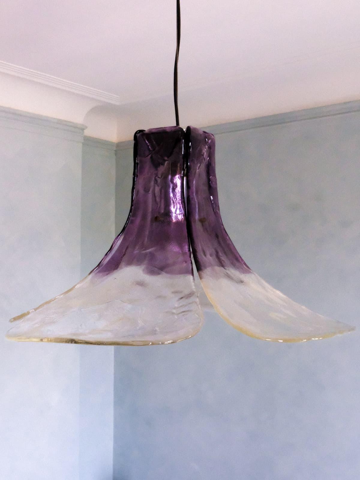 Murano hanging lamp chandelier, 60's