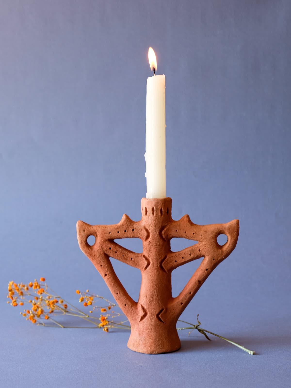 orange qandil candle holder