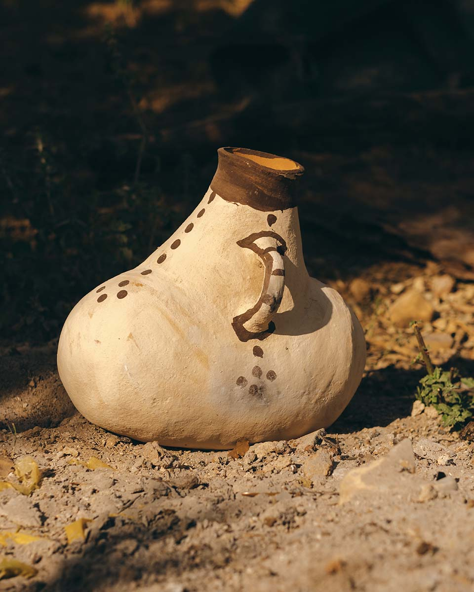 Traditional Moroccan churn from the Rif region.