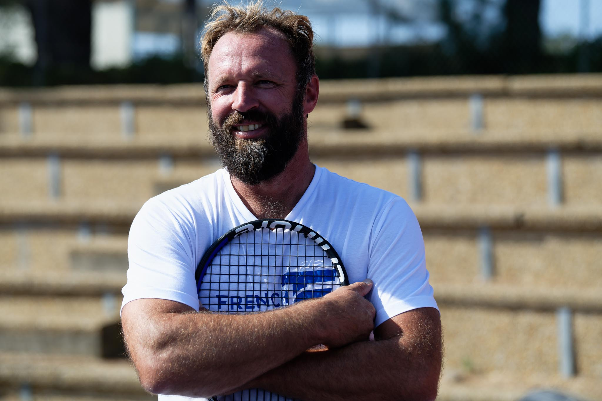 Charles Auffray, former professional tennis player, director of the academy