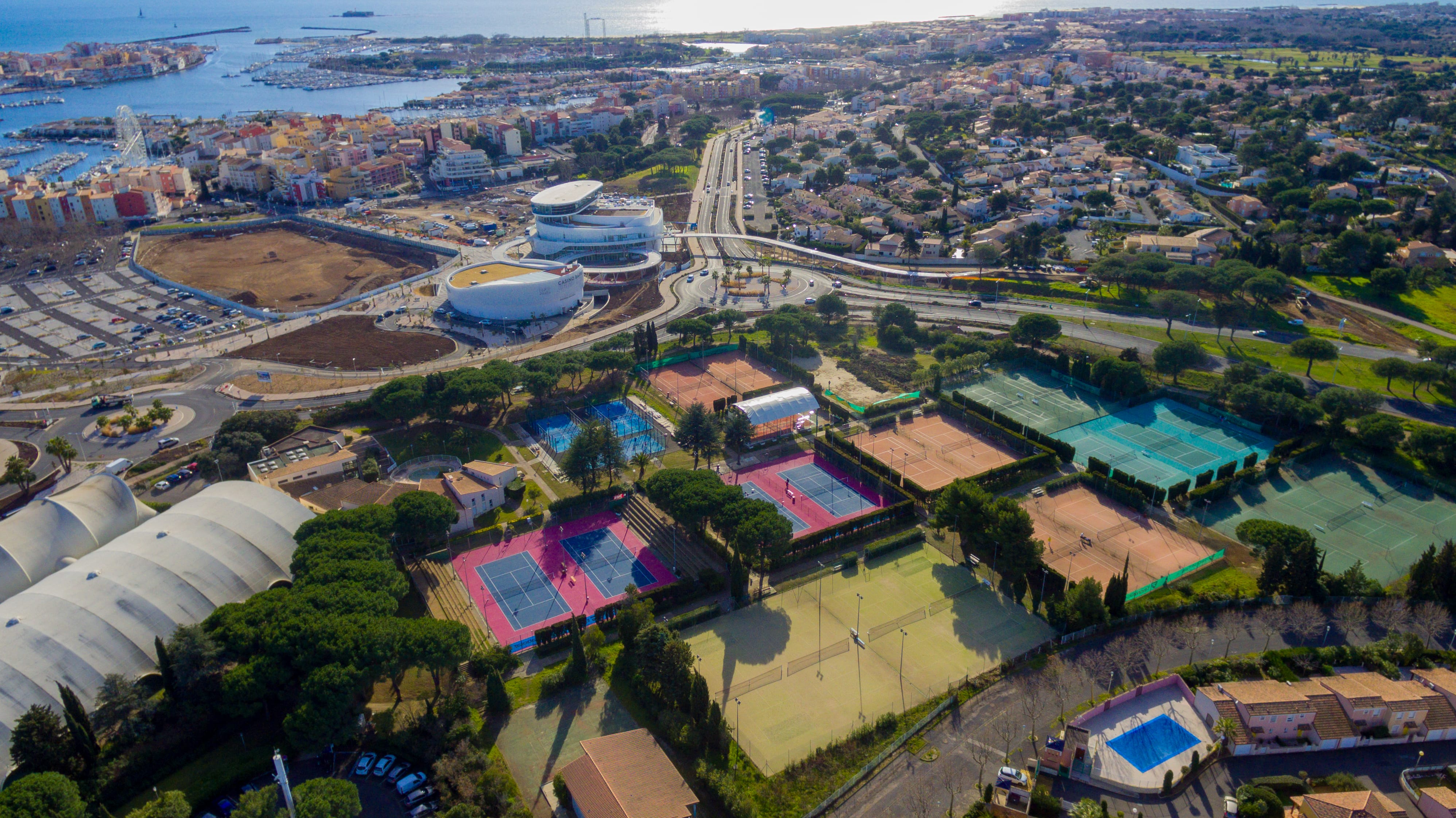 The international Tennis Center of Cap d'Agde, located in the South of France