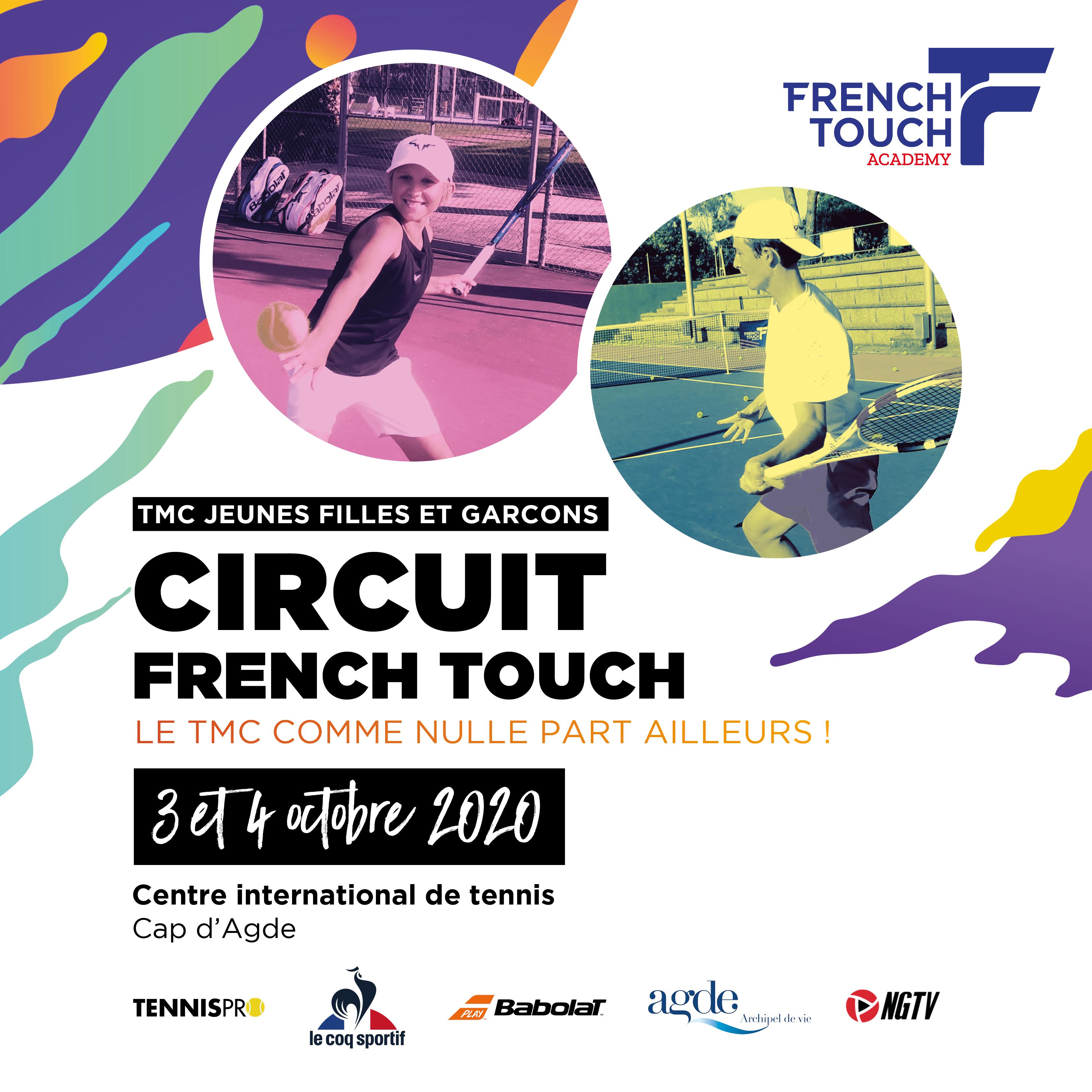 Affiche de présentation du circuit de TMC French Touch Academy